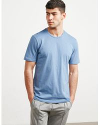 Pal Zileri - Mens Crew Neck Short Sleeve T-shirt Blue - Lyst