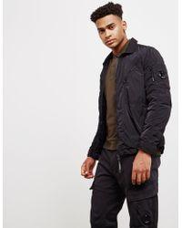 C P Company - Mens Chrome Overshirt Black - Lyst