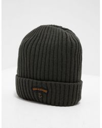 Paul & Shark - Mens Ribbed Knitted Logo Beanie - Exclusively To Tessuti Olive - Lyst
