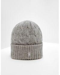 Polo Ralph Lauren - Wool Beanie Grey - Lyst