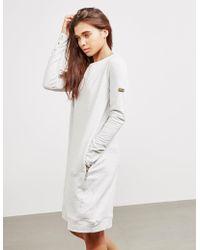 Barbour - Burnett Dress Grey - Lyst