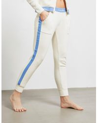Calvin Klein Band Track Trousers Ivory - White