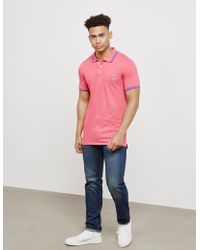 PS by Paul Smith - Mens Tipped Zebra Short Sleeve Polo Shirt Pink - Lyst