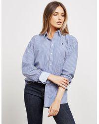 Polo Ralph Lauren Ellen Stripe Long Sleeve Shirt Blue