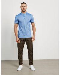Fred Perry - Mens Woven Collar Short Sleeve Polo Shirt Sky Blue/sky Blue - Lyst