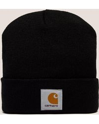 Carhartt WIP - Mens Short Watch Beanie Hat Black - Lyst a41c4fd263b3