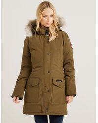 Canada Goose - Womens Trillium Padded Parka Jacket Green - Lyst