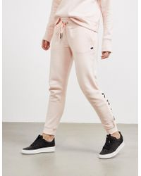 DKNY - Womens Sparkle Cuffed Track Trousers Pink - Lyst
