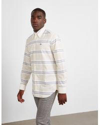 Vivienne Westwood - Mens Stripe Long Sleeve Shirt - Online Exclusive Cream - Lyst