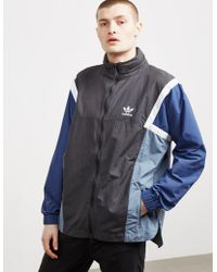 2cf055505 adidas Originals - Nova Full Zip Lightweight Jacket Carbon/blue - Lyst