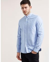 Fred Perry - Mens Classic Oxford Shirt Blue - Lyst