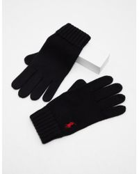Polo Ralph Lauren - Mens Gloves Black - Lyst