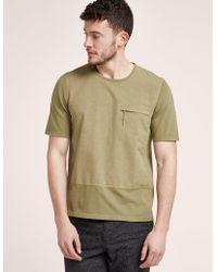 Folk - Mens Combination Short Sleeve T-shirt Khaki - Lyst