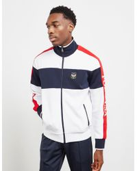 Polo Ralph Lauren - Color Block Full Zip Track Top White - Lyst