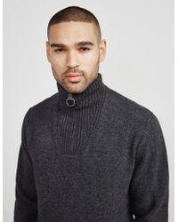 Barbour - Mens Half Zip Knitted Jumper Grey - Lyst