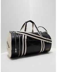 Fred Perry | Mens Classic Barrel Holdall Black/black | Lyst