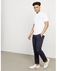 Fred Perry - Mens M6000 Short Sleeve Polo Shirt White - Lyst
