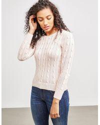 Polo Ralph Lauren - Womens Juliana Knitted Jumper Pink - Lyst