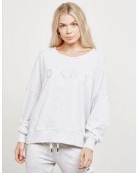 DKNY - Womens Open Back Sweatshirt Grey - Lyst