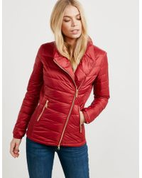 Barbour - Womens International Jurby Quilted Jacket Red - Lyst