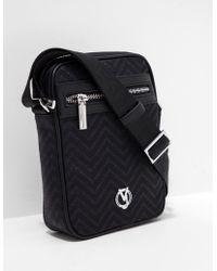 Versace Jeans - Mens Chevron Logo Print Small Item Bag Black - Lyst 0989a40b50