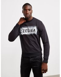 Z Zegna - Mens Large Logo Sweatshirt Black - Lyst