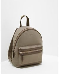 DKNY - Womens Nylon Backpack Brown - Lyst