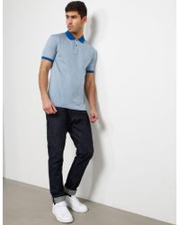 PS by Paul Smith - Hounds Short Sleeve Polo Shirt - Online Exclusive Blue - Lyst