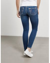 True Religion - Womens Jennie Super Skinny Jeans Azure Blue/azure Blue - Lyst