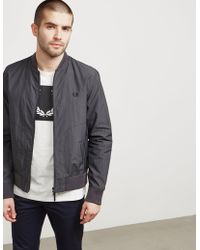 Fred Perry - Mens Lightweight Sport Bomber Jacket - Online Exclusive Grey - Lyst