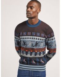 PS by Paul Smith - Mens Intarzia Knit Jumper - Online Exclusive Multi - Lyst