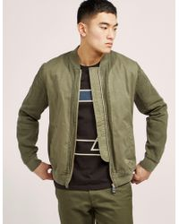 Folk - Mens Slouch Bomber Jacket - Online Exclusive Khaki - Lyst