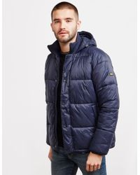 Barbour - Busa Down Padded Jacket Navy Blue - Lyst