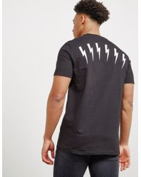Neil Barrett - Mens Back Bolt Short Sleeve T-shirt Black - Lyst