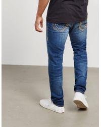 True Religion - Mens Rocco Slim Jeans Blue - Lyst