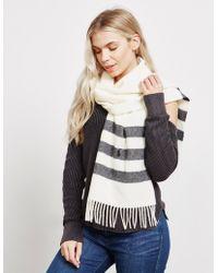 Polo Ralph Lauren - Womens Long Wool Scarf Cream - Lyst