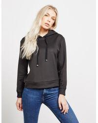 Emporio Armani - Womens Sequin Logo Hoodie - Online Exclusive Black - Lyst