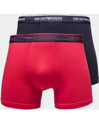 Emporio Armani - Mens 2-pack Boxer Shorts Navy Blue - Lyst
