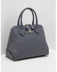 Vivienne Westwood | Womens Balmoral Large Dome Bag Grey | Lyst