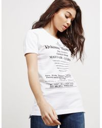 Vivienne Westwood - Womens Anglomania Cheap Things Short Sleeve T-shirt White - Lyst