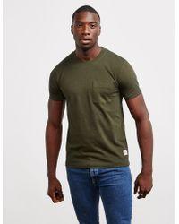 Nudie Jeans - Mens Kurt Pocket Short Sleeve T-shirt Green - Lyst