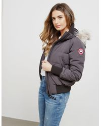 Canada Goose - Womens Savona Padded Bomber Jacket Grey - Lyst