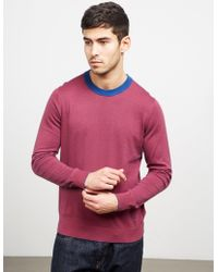 PS by Paul Smith - Mens Fine Stripe Knitted Jumper Pink - Lyst