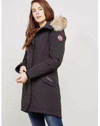 Canada Goose - Rossclair Padded Parka Jacket Black - Lyst