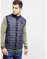 Barbour - Mens International Baffle Quilted Gilet Navy Blue - Lyst