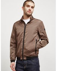 Emporio Armani | Mens Perforated Nylon Jacket Green | Lyst