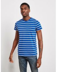 9b623129a Lyst - Tommy Hilfiger Striped Polo Shirt in Blue for Men