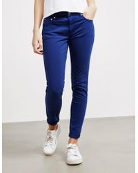 Polo Ralph Lauren - Womens Sateen Jeans Blue - Lyst