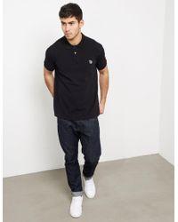 PS by Paul Smith - Mens Zebra Short Sleeve Polo Shirt Black - Lyst