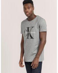 CALVIN KLEIN 205W39NYC - Mens Icon Short Sleeve T-shirt Grey - Lyst